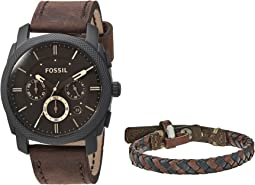 Fossil - Machine Watch and Bracelet Box Set - FS5251SET