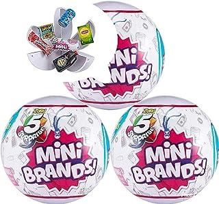 5-Surprise Mini Brands Collectible Capsule Ball by Zuru - 3 Ball Bundle
