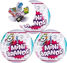 5-Surprise Mini Brands Collectible Capsule Ball by Zuru – 3 Ball Bundle