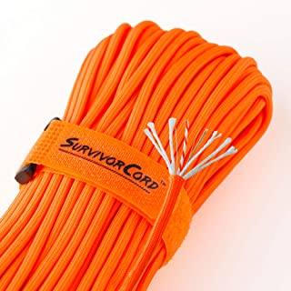 Titan 620 LB SurvivorCord Paracord [w/Free Ebooks] | Patented 550 Parachute Cord with Integrated Fishing Line, Waxed-Jute Tinder, and Utility Wire. Developed for U.S. Military Special Operations.