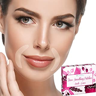 Blumbody Facial Patches Smile Wrinkle Remover Strips - 120 Smile Wrinkle Patches - Face Smoothing Patches for Wrinkle Treatment - Reusable Smoothing Wrinkle Patches for Wrinkles Around Mouth