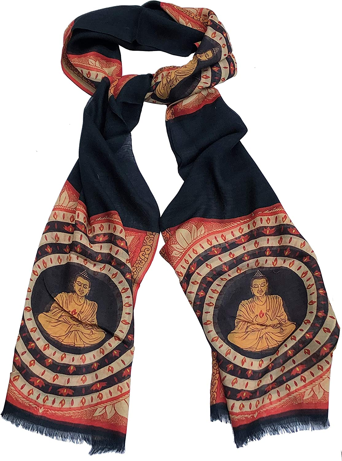 Buddha scarf peace and happiness scarf Buddhism scarf
