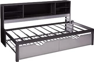 Acme Furniture AC-37225T Bed, Black & Silver