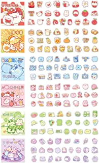 Doraking 300PCS Cute Cartoon Rabbits Decoration Washi Stickers for Scrapbook Planners (Blue)