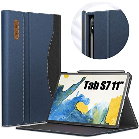 Cover Housse Etui Coque ELTD pour Samsung Galaxy Tab S7 Verre Tremp/é Film+ pour Samsung Galaxy Tab S7 Coque Etui Verre Tremp/é Film pour Samsung Galaxy Tab S7 11 Noir + 1 Pack , SM-T870//875