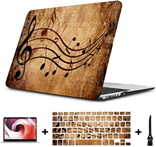 Mac Book Air Covers Old Music Sheet with Musical Notes Plastic Hard Shell Compatible Mac Air 11