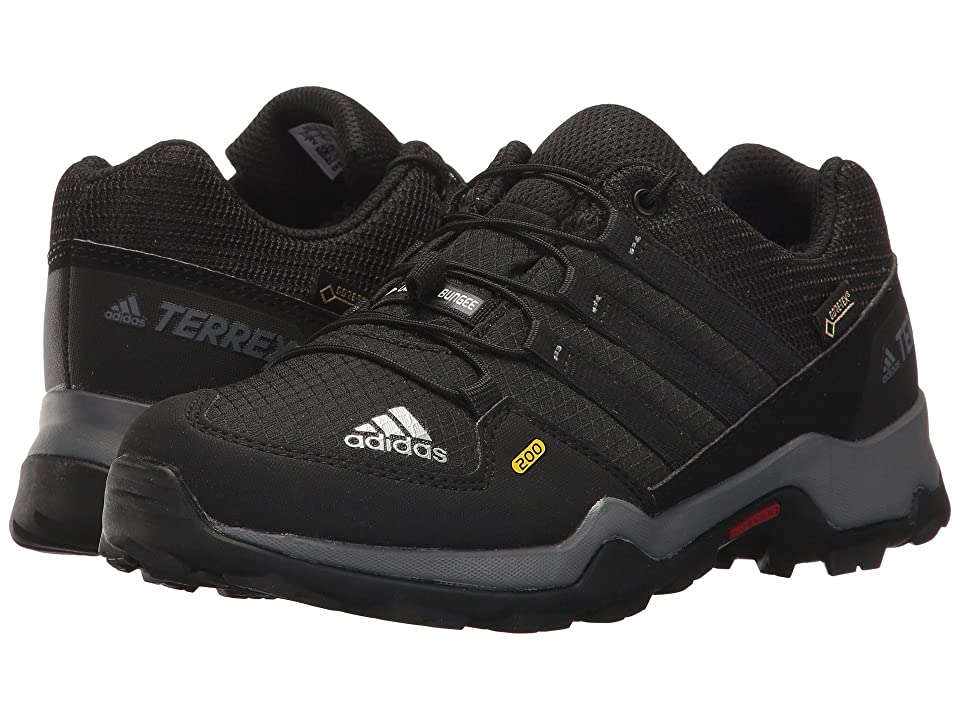 adidas Outdoor Kids Terrex GTX (Little Kid/Big Kid) (Black/Black/Vista Grey) Kids Shoes