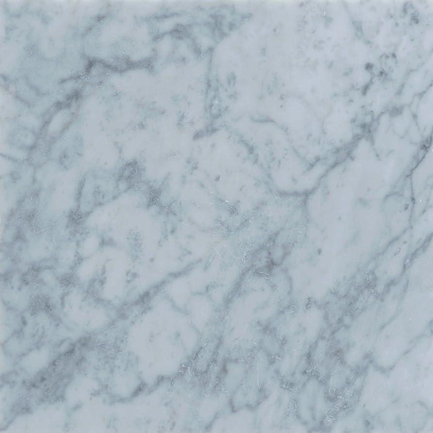 ユーモア泥教室イタリアの天然大理石 ビアンコカララ 本磨き 30cmX30cmX1cm 2.4㎏ 平日12時までのご注文で当日出荷可能です。