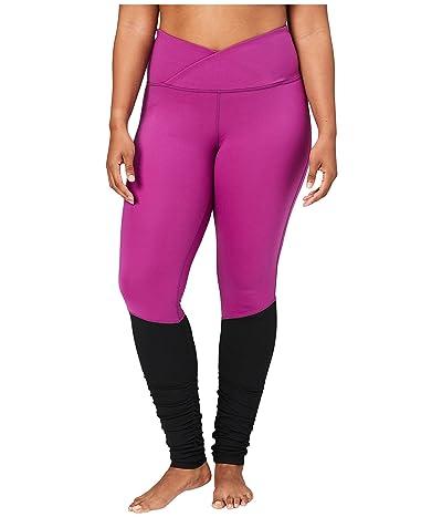 Core 10 Icon Series The Ballerina Plus Size Yoga Leggings (Violet/Black) Women