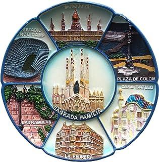 Wedare - Adorno de mesa para colgar en la pared diseño de Barcelona colección de recuerdos de turismo