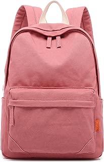 Tom Clovers Canvas Backpack Rucksack Weekender Bag Laptop Bag School Backpack Pink