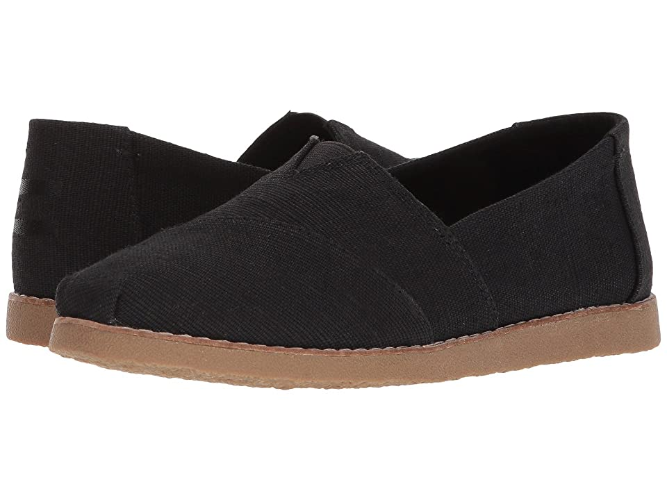 TOMS Alpargata Crepe (Black Heritage Canvas) Women