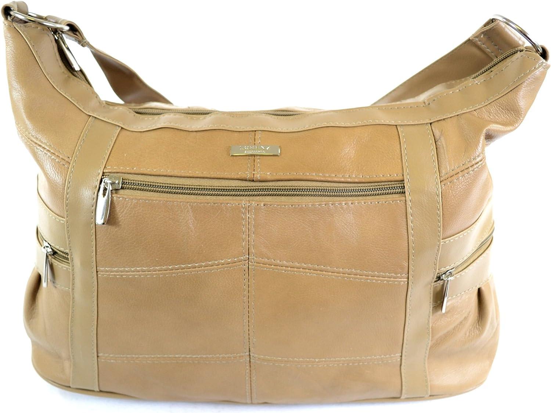 Stadlbauer Damen Große Leder Umhängetasche Handtasche (schwarz, braun, hellbraun, Fawn) B00L94DMV0  Sorgfältig ausgewählte Materialien