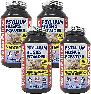 Psyllium Husks Powder - 12 oz (Pack of 4)