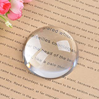 LONGWIN Crystal Dome Magnifier/Paperweight Reading Magnifying Glass-2.4 Inch