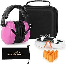 YINSHOME Shooting Ear Protection Earmuffs, Gun Safety Gl, Earplugs, Protective Case