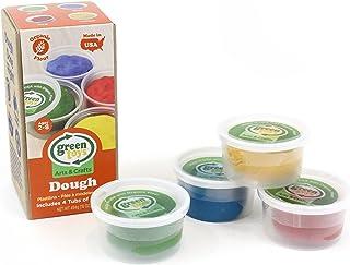 Green Toys Dough Activity Set, Multi-Colour, DS4A-1241, 4 Pieces