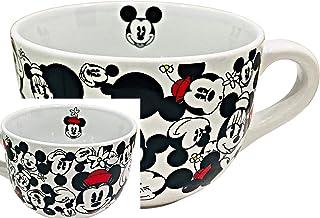 Disney Mickey & Minnie Mouse Jumbo Ceramic Coffee /Soup Gift Mug | 24 oz. Capacity