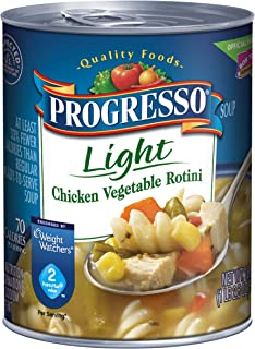 Progresso Soup, Low Fat Light, Chicken Vegetable Rotini Soup, 18.5 oz Cans (Pack of 12)