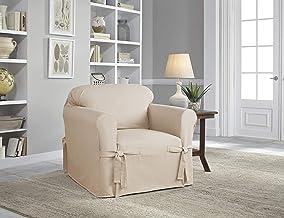 سيرتا   غطاء أثاث مريح بتصميم كوخ مريح ومضاد للتجاعيد (كرسي، بلون الشوفان)