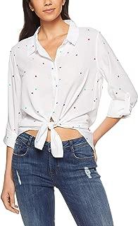 French Connection Women's Star Print Button Through Shirt, Summer White/Multi