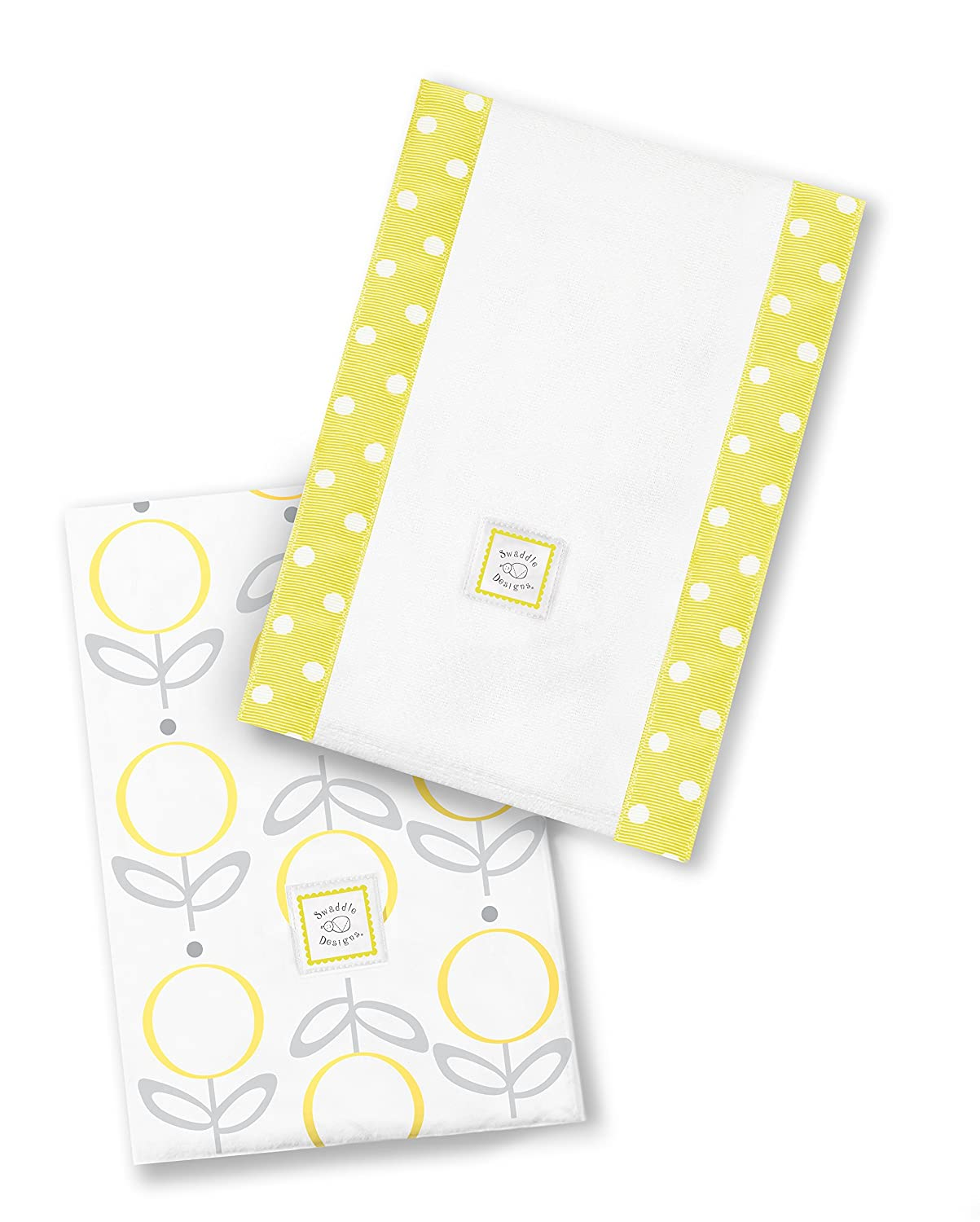 SwaddleDesigns Baby Burpies Set of Fees free!! Cotton Yellow Max 59% OFF Cloths Burp 2