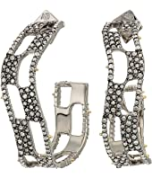 Alexis Bittar - Pave Checkerboard Hoop Earrings