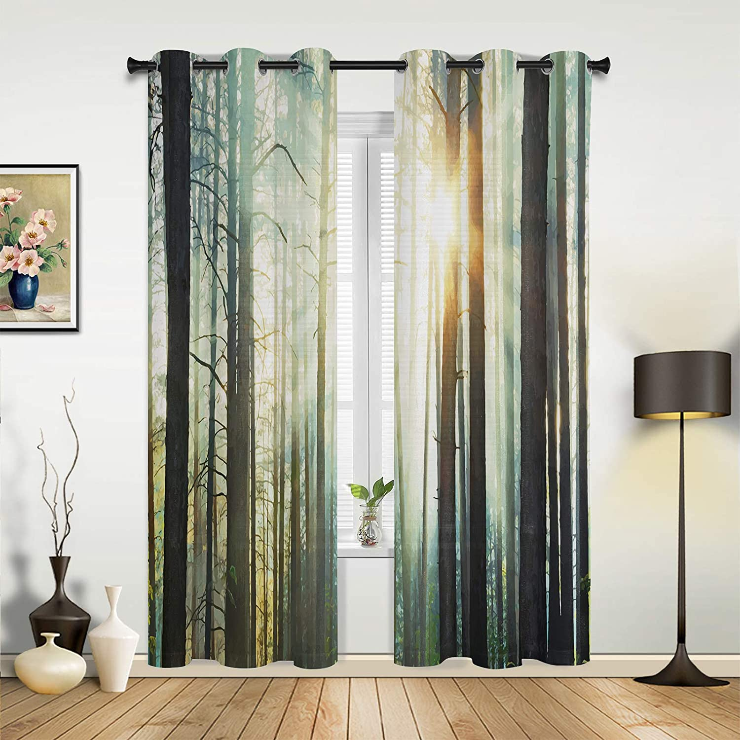 Window Challenge the lowest price Sheer Curtains for Bedroom Beautif Manufacturer direct delivery Living Room Mysterious