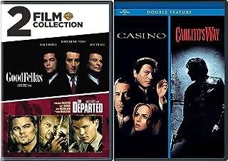 4 Film Collection Goodfellas / Casino / The Departed + Carlito`s Way DVD Crime Gang Bundle