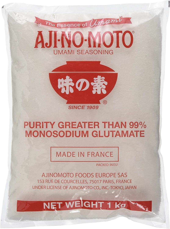 Aji-no-moto 99 % Glutamato - Condimento, 1 unidad, 1 kg