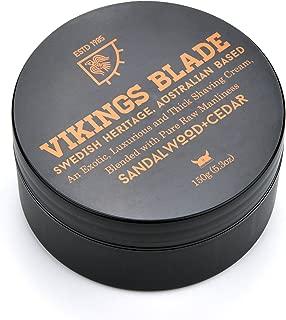 VIKINGS BLADE Luxury NON-LATHER Foaming Shaving Cream (Sandalwood & Western Cedar)