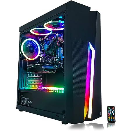 Gaming PC Desktop Computer Intel i5 3.10GHz,8GB Ram,1TB Hard Drive Storage,Windows 10 pro,WiFi Ready,Video Card Nvidia GTX 650 1GB, 3 RGB Fans with Remote