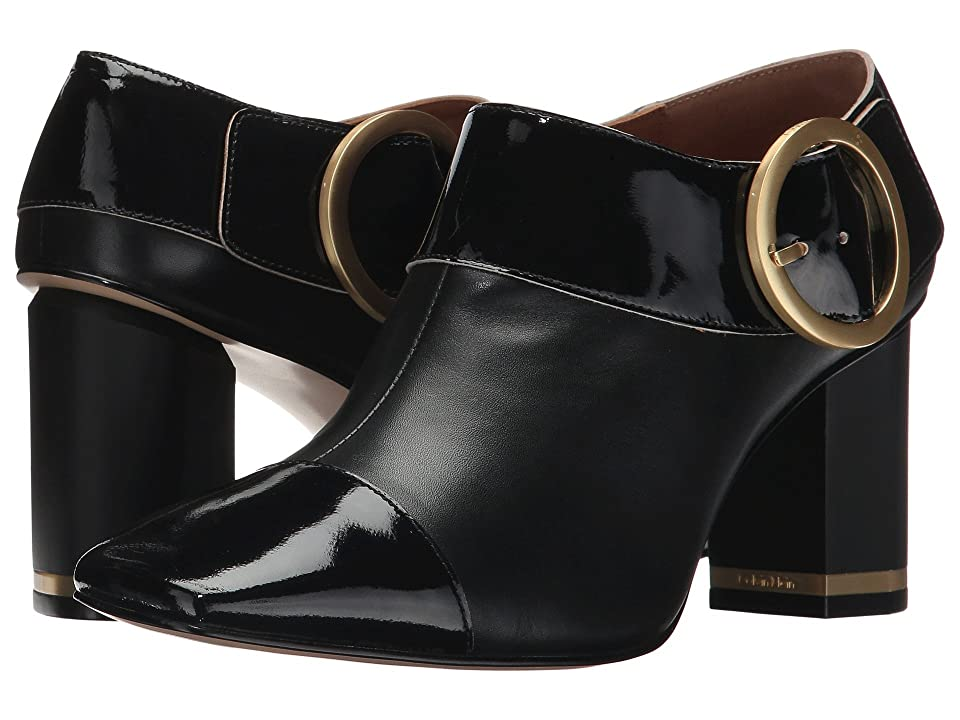 Calvin Klein Bryony (Black Smooth Calf/Soft Patent) Women