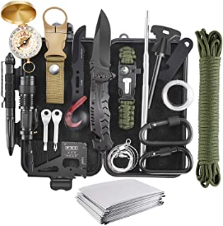 Verifygear Emergency Survival Kit, 22 in 1 Professional Survival Gear Equipment Tools First Aid Supplies for SOS Emergency...