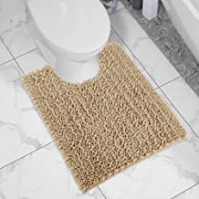 Yimobra Bath Contour Mat Chenille Toilet Mat U-Shaped Rugs for Bathroom Maximum Absorbent,Soft and Cozy,Dry Quickly,Non-Sl...