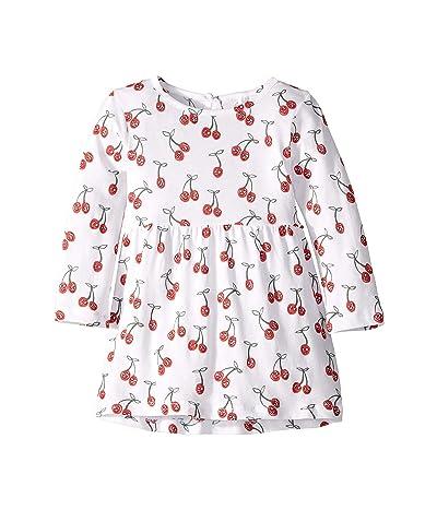 Stella McCartney Kids Long Sleeve Cherries Dress (Infant) (White) Girl