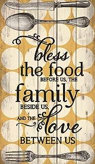 P. Graham Dunn Bless The Food Polka Dot Design 24 x 14 Wood Pallet Wall Art Sign Plaque