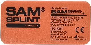 SAM Medical Finger Splint, Orange and Blue, 3 Count