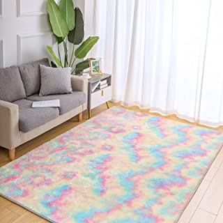 Wondo Super Soft Rainbow Rugs for Girls Bedroom Living...