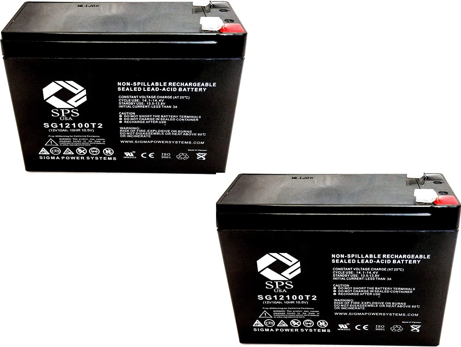SPS Brand 12V 10Ah Replacement New York Mall Battery Pacelite HCF Cute for Same day shipping