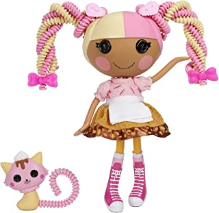 """Lalaloopsy Silly Hair Doll - Scoops Waffle Cone with Pet Cat, 13"""" ice Cream Theme Hair Styling Doll with Multicolor Hair &..."""