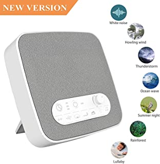 White Noise Machine for Sleeping, Aurola Sleep Sound Machine with Non-Looping Soothing Sounds for Baby Adult Traveler, Portable for Home Office Travel.