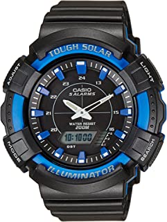 Casio Standard Men'S Black Dial Resin Band Watch Ad S800Wh 2A2V, Solar, Analog Digital