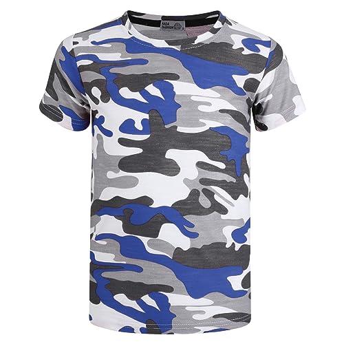 2e3646dc7 LotMart Boys Military T-Shirt Weave Camo Pattern