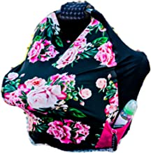 Coddle Luv Premium Soft Stretchy Infant Carrier Cover All-in-One Reversible Infant Car Seat Cover (Floral)
