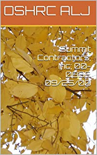 Summit Contractors, Inc; 00-0838  09/25/00
