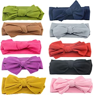 StyleZ 10PCS Baby Girl Big Bow Headbands Newborn Infant Toddler Knotted BowsHairbands Hair Accessories