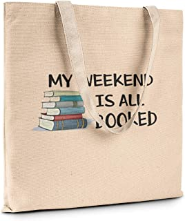 Funny Humor Fashion Novelty Canvas Tote Book Shopping Travel Bag Carry All (My weekend is all booked)