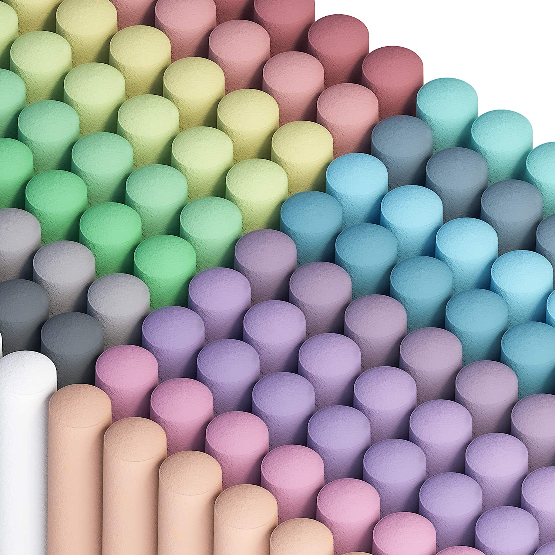 Sidewalk Chalk overseas Factory outlet Feela 162 Pack 18 Colors For Set