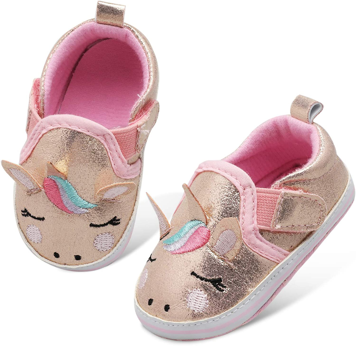 Canvas Sneakers for Baby Boys Girls Cozy Anti-Slip Outdoor First Walkers Shoes
